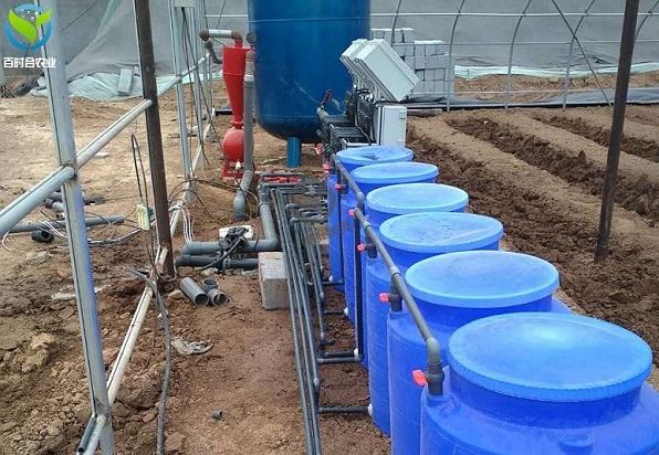 江苏大棚西红柿滴灌水肥一体化系统安装